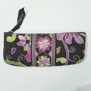 Vera Bradley Pouch Brown with Pink Green Floral